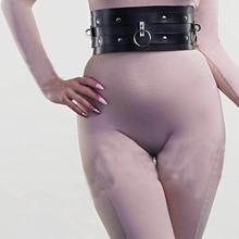 Vintage kobiety nowy Harajuku gorset pasy metalowy klips skórzany Punk Hook regulowany pierścień Handmade Unisex skarpety pas do pończoch akcesoria tanie tanio baoxiu Dla dorosłych Faux leather WOMEN Na co dzień GEOMETRIC B0042 0043