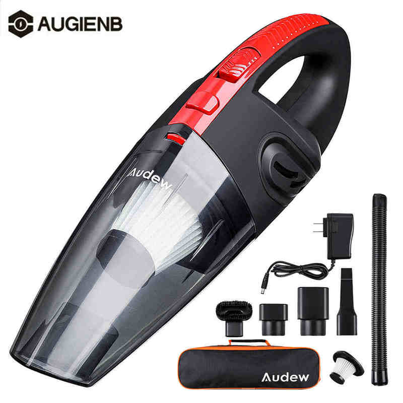 AUDEW 120W 4000pa Handheld Home Vacuum Cleaner HEPA Filter Mini Portable USB Rechargeable Cordless Wet Dry Use 2200mAh