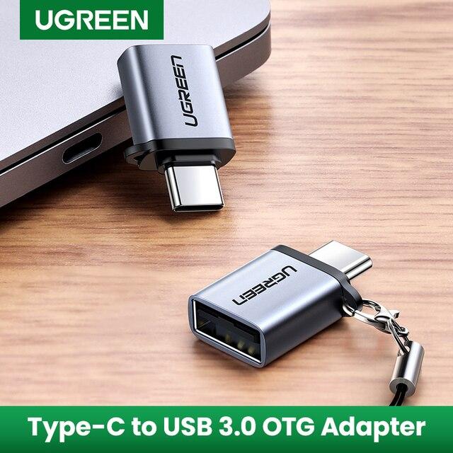 Προσαρμογέας ugreen usb c otg fast usb 3. 0 to type c adapter για macbook pro xiaomi mi 10 mini usb adapter type-c otg cable converter