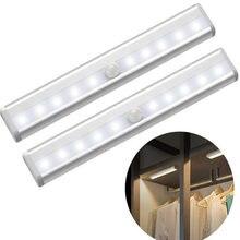 Motion Sensor Wireless LED Night Lights Bedroom Decor Light Detector Wall Decorative Lamp Staircase Closet Room Aisle Lighting