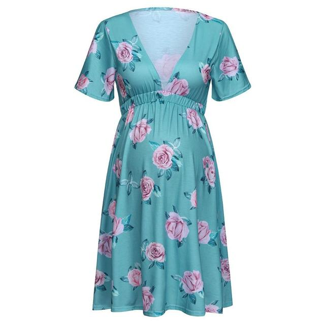 Maternity Pregnant Dresses with Short sleeves 5