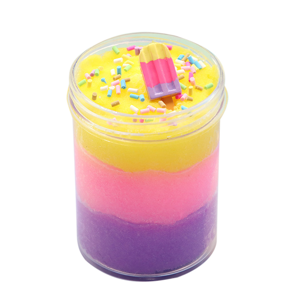 Colorful Mixing Cloud Cotton Ice Cream Slime Kids Clay Toys  Soft Polymer Slime Children Toy Reduced Pressure Mud #B
