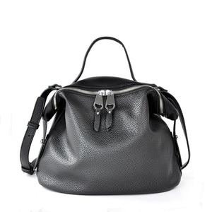 Image 1 - Crossbody torby dla kobiet czarne skórzane 2019 projektant wysokiej jakości PU Hobo torebki dla dziewczyna różowy kolor miękkie torba na ramię torebka