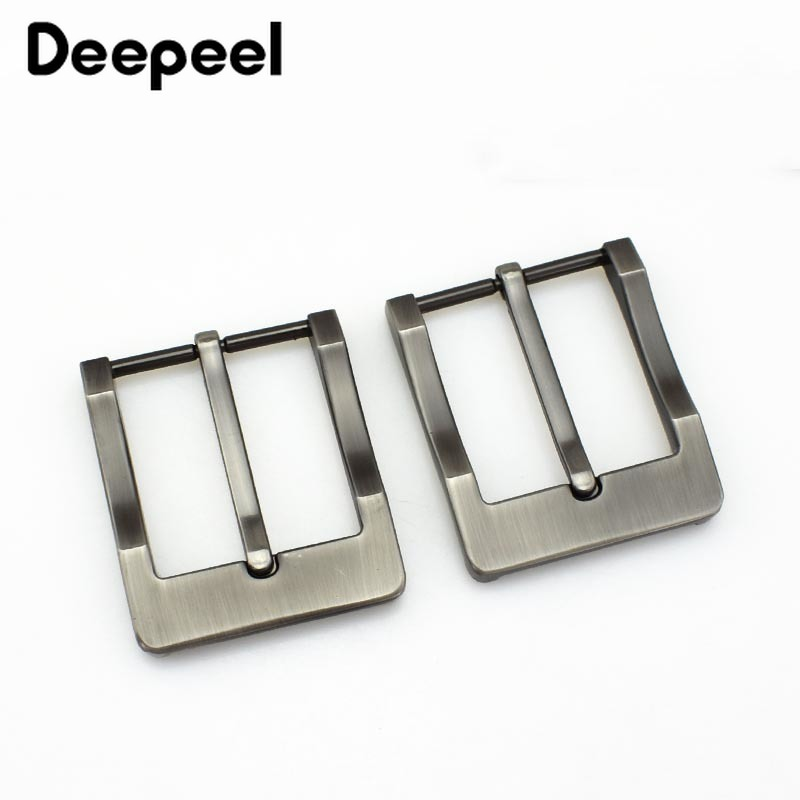 Deepeel 1/5pcs 40mm Brushed Alloy Metal Belt Buckles Men Women Pin Buckle Head For 3.8-3.9cm Belts Accessories DIY HardwareKY234