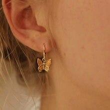Mode Vlinder Ohrringe Voor Women Sieraden Clssic Leuke Vlinder Gouden Oorringen Luxe Ontwerp Party Bankett Zubehör