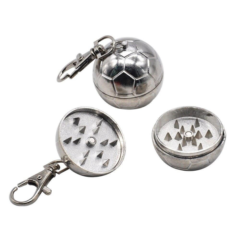 Metal 2-Piece Keychain Grinder 35MM Mini Zinc Alloy Smoking Grinders Metal Tobacco Herb Grinder Crusher