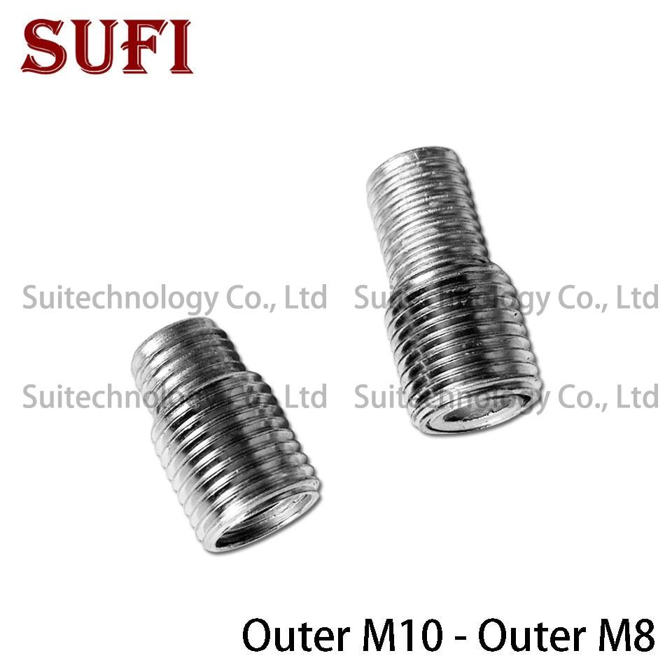 2pcs M10 M8 external teeth adapter screw fine teeth full teeth lighting lamps  hollow iron tube dental tube screws
