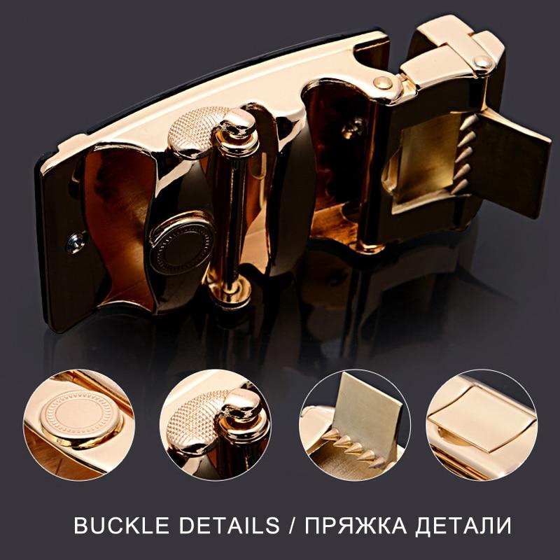 2020 Brand Fashion Automatic Buckle Black Genuine Leather Belt Men's Belts Cow Leather Belts for Men 3.5cm Width