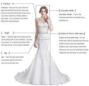 Image 5 - Custom Made Kant Mermaid Trouwjurken Lange Mouwen White Wedding Gown Sexy Vintage 2020 Bruid Jurk Robe De Mariage