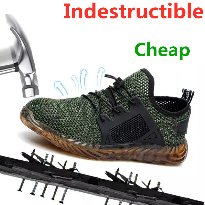 Men Anti-puncture Work Safety Military Shoe Indestructible Steel Toe Ankle Boots