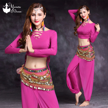 4 Colors Available Belly Dance Costume Practice White Black Adult Bellydance Set Modal Slim Fit Tops Pants High Quality