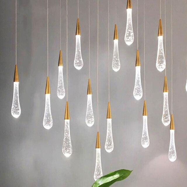 الشمال مصمم فاخر كريستال قلادة أضواء الحديثة قلادة led مصباح الإضاءة فندق قاعة مطعم ديكور داخلي مصباح معلق