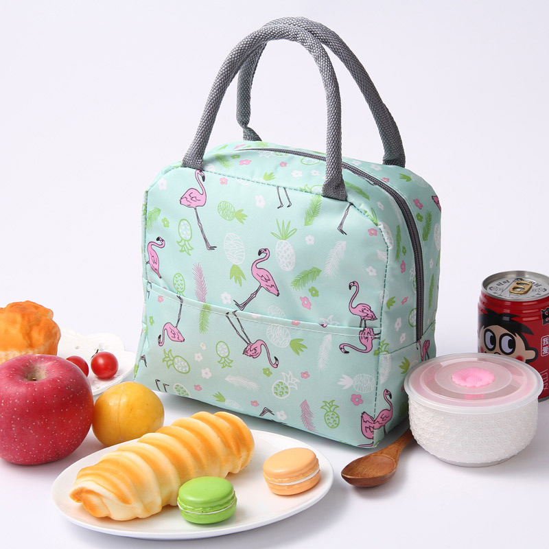 New Japanese Fresh Student with Meal Insert Bag Section  Insulation Lunch Bag Japanese style Portable Insulation Lunch BagBags