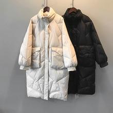 2019 Women Thick Winter Coat Stand Collar Women Long Jacket Coat Oversized Women Warm Coat Outerwear Female Casaco Feminino