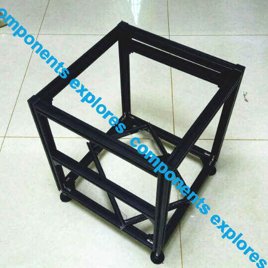 Frame For Hypercube Evolition  400*400*400   400*400*500  400*400*600  3D Printed Parts Black Or Slivery Color