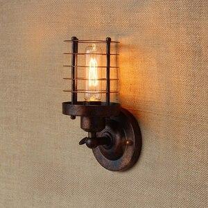 Image 5 - Luz de pared Industrial Vintage, lámpara de pared de óxido, echo de moda, accesorios de iluminación para Loft, ajuste de 180 °, pantalla arriba y abajo