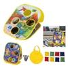 Portatile 4 fori Cornhole gioco gioco di lancio Sandbag giardino cortile gioco di lancio all'aperto giocattoli divertenti attività per viaggi in campeggio