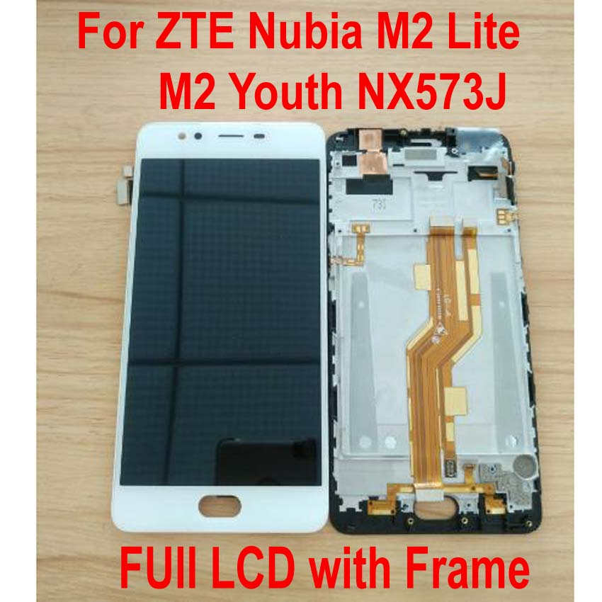 Original Tested Working For ZTE Nubia M2 Lite / M2 Youth NX573J LCD Display Touch Panel Screen Digitizer Assembly Sensor + Frame(China)