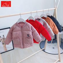 autumn winter children coat boys girls cotton overcoat clothing kids solid color outerwear child warm clothes