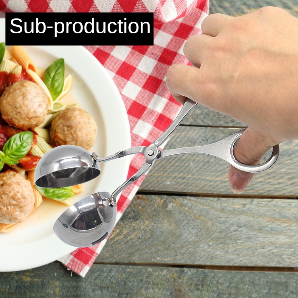 304 Stainless Steel Pill Maker Meatball Clip Meatball Sub-Pill Maker Round Ball Rice Roll For Making Maker Fish Ball Clip