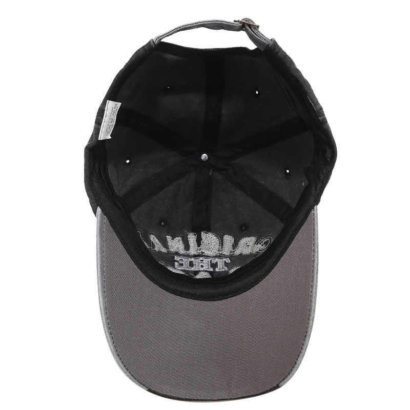 RoxCober خمر غسلها قيعة بيسبول صغيرة المجهزة قبعة Snapback قبعة Gorras عادية Casquette رسالة سوداء قبعة للرجال النساء 1021