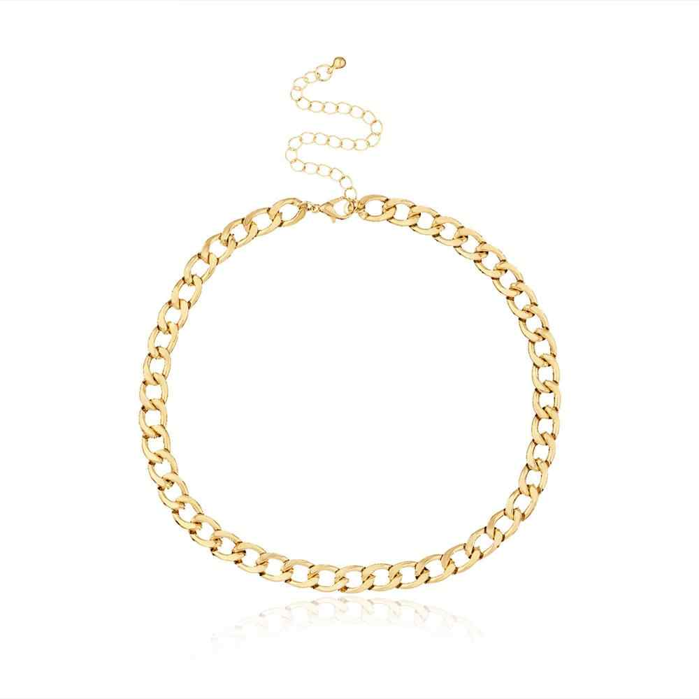 Fashion Link Rantai Kalung untuk Wanita Pesona Kalung Collares Perhiasan XL066