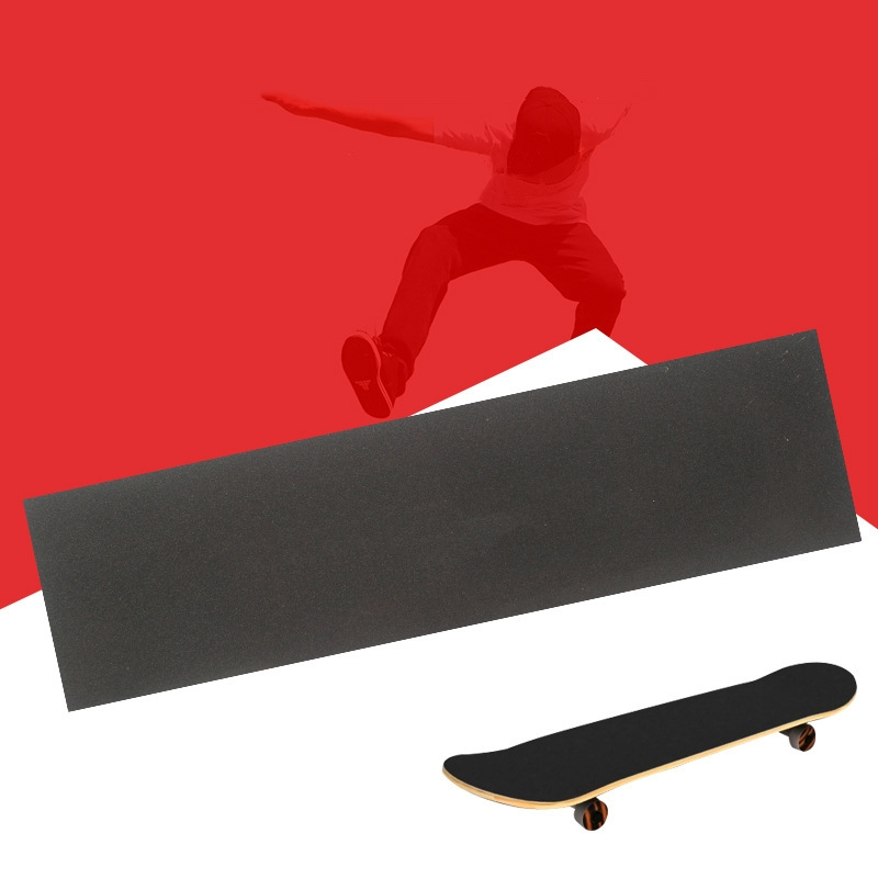 1PC Professional Non-slip Black Skateboard Deck Sandpaper Grip Tape For Skating Board Longboarding 82*21cm Skateboard Accessory