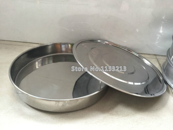 Lid And Bottom For Test Sieve Dia 40 cm 304 SUS Cover And Container For Laboratory Sampling Inspection Pharmacopeia Sieve
