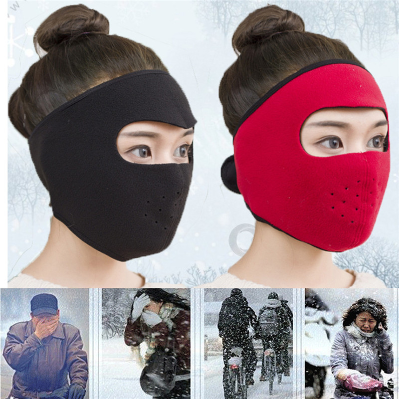 Winter Windproof Face Masks 2 In 1 Winter Mask Earflap Cycling Full Face Mask Outdoor Riding Ski Warm Dustproof Maskfz