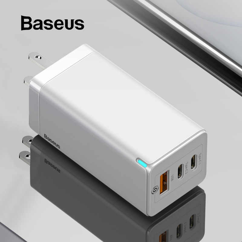 BASEUS 65W GAN USB Fast Charger Quick Charge 3.0 สำหรับ iPhone 11 PD3.0 US Plug รองรับ FCP AFC SCP QC 3.0 สำหรับ Samsung S10 Xiaomi