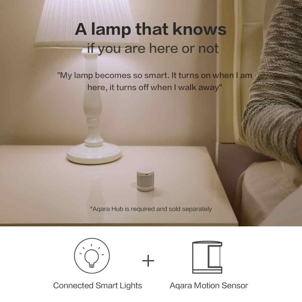 Toplu satış Aqara akıllı insan vücudu sensörü hareket PIR hareket sensörü Zigbee kablosuz bağlantı ile çalışır ağ geçidi Mi ev APP