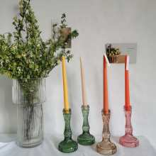 1PC Vintage Crystal Candle Holder Decoration Wedding Table Cristal Candle Stand Crystal Candelabra Taper Holder