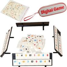 Parent-child Interactive Toys Games Portable Digital Board Game Israel Mahjong Rummikub 106 Tiles Family Travel Digital Puzzle digital interactive installations