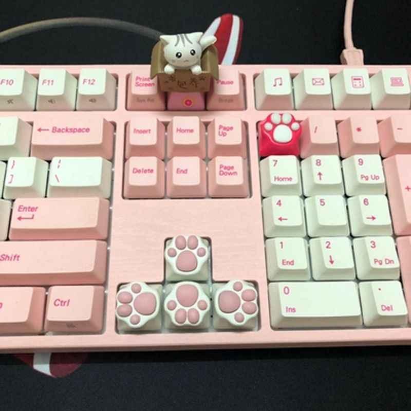 パーソナリティカスタマイズ abs シリコーンキティ足職人猫の足パッドキーボードキーキャップチェリー mx スイッチ QX2B