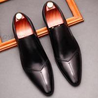 Neue Büro Hochzeit Männer Aus Echtem Leder Schuhe Müßiggänger Männer Qualität Leder Schuhe Mann Wohnungen Heißer Verkauf Kleid Männer Schuh Schwarz rot Wein