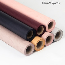 цена на 60cm*15yards/roll Single Roll Flower Wrapping Paper Monochrome Kraft Paper Bouquet Wrapping Paper Gift Supplies