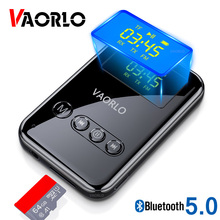 VAORLO 4 In 1 Senza Fili Recevier Trasmettitore FM Adattatore Bluetooth 5.0 Trasmissione Gioco Della Carta di TF Display A LED Stereo Per Le Cuffie