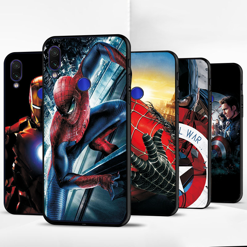 Captain <font><b>Marvel</b></font> Spiderman For <font><b>Huawei</b></font> P Smart 2019 Case on PSmart Plus Z Black TPU For <font><b>Huawei</b></font> P20 P30 <font><b>P10</b></font> <font><b>Lite</b></font> P30 Pro Case <font><b>Cover</b></font> image