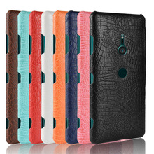 New For Sony Xperia XZ3 Case 6.0Luxury Retro Crocodile PU Leather Hard Cover Dual Phone Fitted Cases