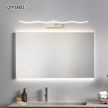Wall-Lamps Led-Mirror-Lights Bathroom-Lighting Make-Up Black Waterproof Modern White
