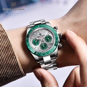 PAGANI DESIGN Quartz Watch Fashion Casual Men Wristwatch Top Brand Sport Chronograph Stainless Steel Waterproof Watch Japan VK63