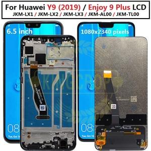 Image 1 - Y92019 ekran + dokunmatik ekran Digitizer meclisi için Huawei Y9 2019 LCD için çerçeve ile huawei 9 artı JKM LX1 JKM LX2 JKM LX3