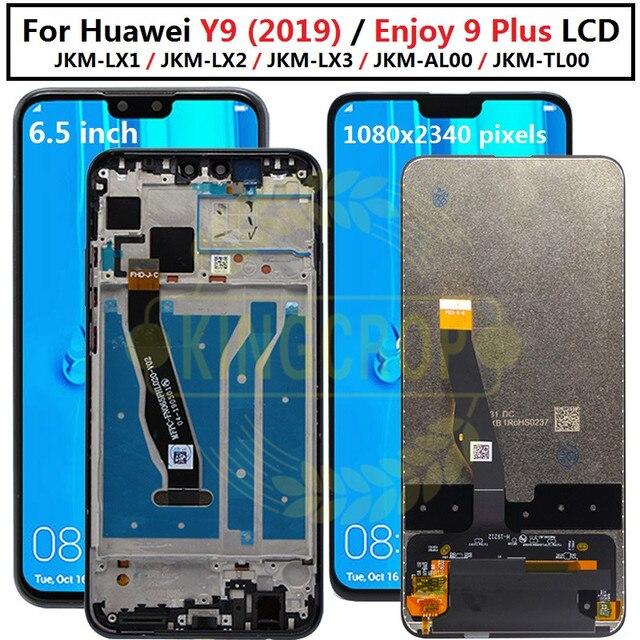 Y92019 ekran + dokunmatik ekran Digitizer meclisi için Huawei Y9 2019 LCD için çerçeve ile huawei 9 artı JKM LX1 JKM LX2 JKM LX3