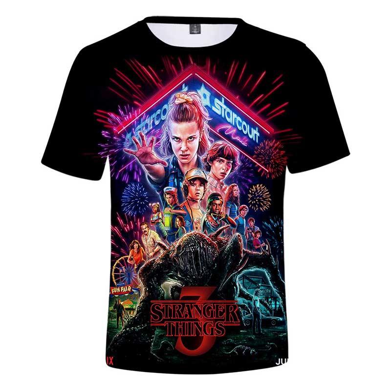 Tee Shirt Stranger T-Shirt Things Boys Kids 12-Years Print Girls Summer 3 4 6 7 8 9 3d