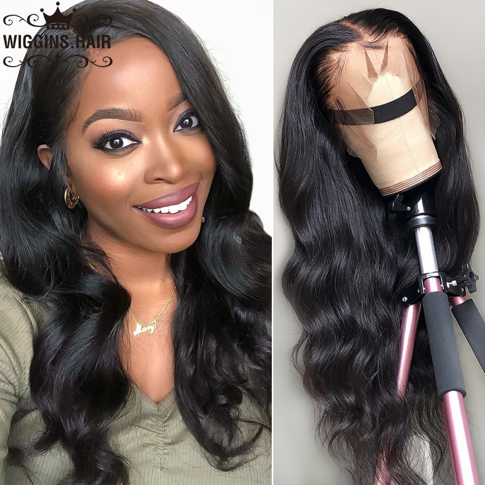 13X6 Lace Front Human Hair Wigs Wiggins Body Wave 13x4 Lace Front Wig Pre Plucked Bleached Knots 360 Wigs Brazilian Remy Wigs(China)