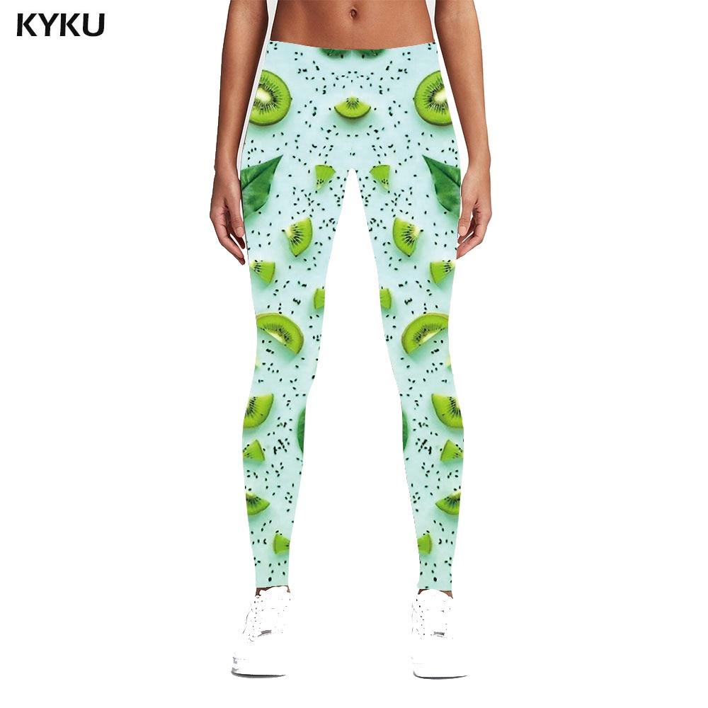 KYKU Fruit Leggings Women Leggings Sexy Fitness Pants Spandex Push Ups Elastic Funny Trousers Womens Leggings Pants Casual Slim