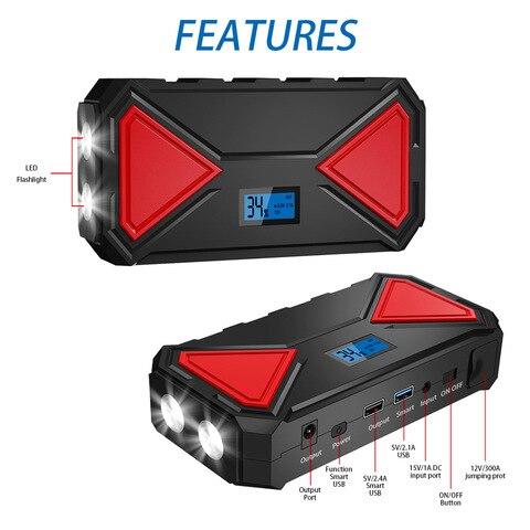 qc30 banco de potencia portatil carregador
