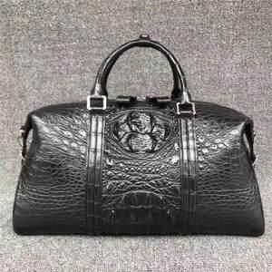 Handbag Purse Duffel Travelling Top-Handle Real Male Zipper Crocodile Men Skin Closure