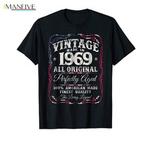 2019 Hot Sale New Men'S T Shirt Vintage USA Legends Made in 1969 T-Shirt 50th Birthday Gift new balance 998 made in the usa