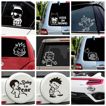 Funny Kids On Board Car Stickers Decal Waterproof Removable Decoration Accessories Car Decal Decor image